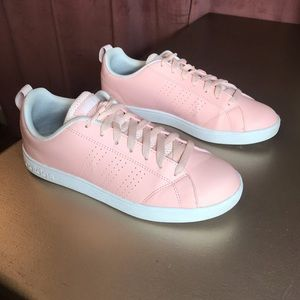 Adidas Comfort Footbed- Pink Leather Sneakers
